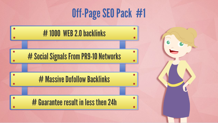 Site SEO pack - Backlinks, WEB 2.0s, Social Signals...