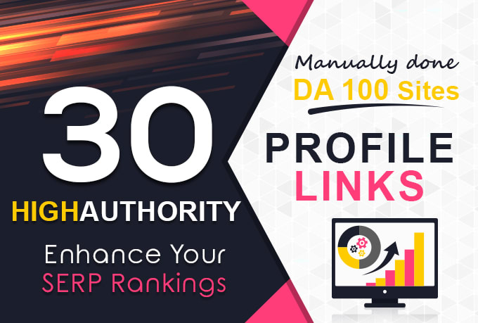 Provide 30 Profile Backlinks With Dofollow And Nofollow Mix