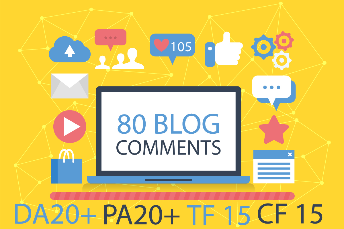 do 80 Uniqe Domain Dofollow Blog Comments High Da25+ Pa20+