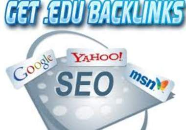 provide you with a list of over 3000 High ranking PR .edu backlinks that are dofollow and auto approve