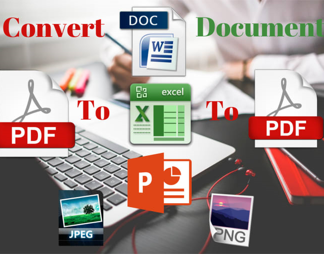 convert and edit pdf to word, word to pdf, image to word, image to notepad and excel