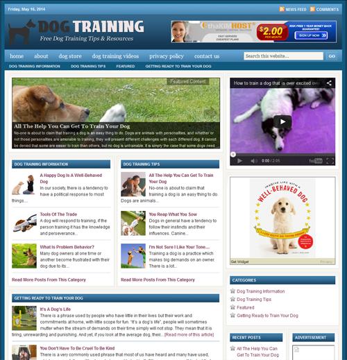 Fully Automated Wordpress Dog Training Website - 100% Autopilot - SEO Ready Website