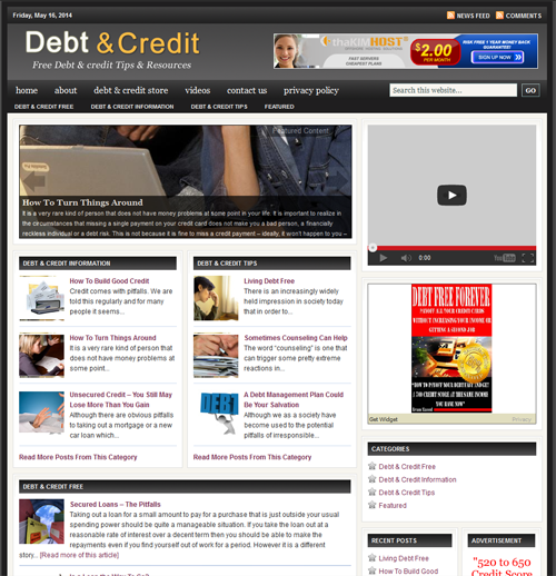 Fully Automated Wordpress Debt & Credit Repair Website - 100 Autopilot - SEO Ready Website