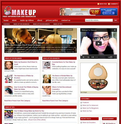 Fully Automated Wordpress Makeup Guide Website - 100 Autopilot - SEO Ready Website