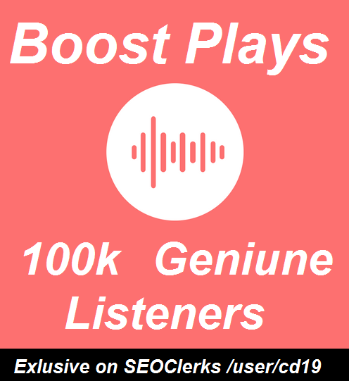 100k Music Promotion Unique Listeners On Your Track /...