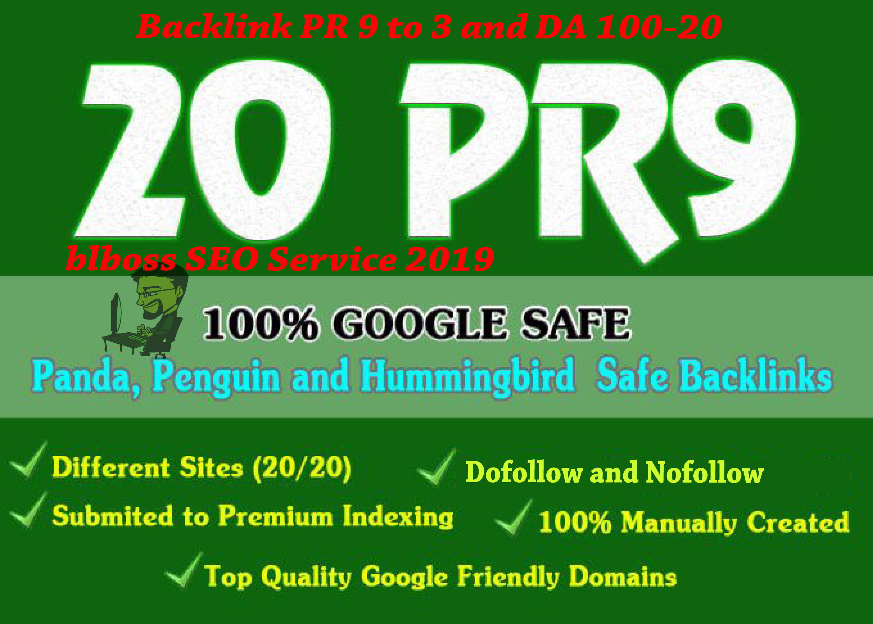 Build 20 Unique Domains Manual Backlinks DA 100-20