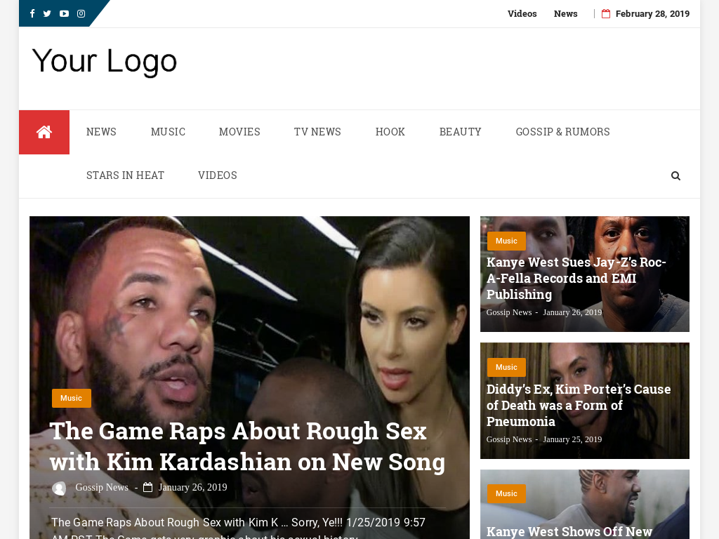 Automated Gossip Entertainment News Website