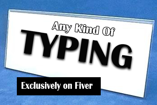 do typing job professionally,  retype scanned documents