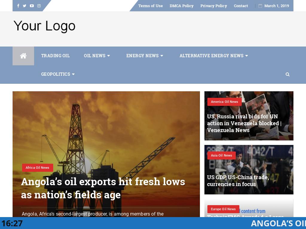 Automated Oil Market News Website AutoPilot