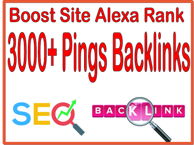 Get you 3000+ HQ PR URL Pings Backlinks