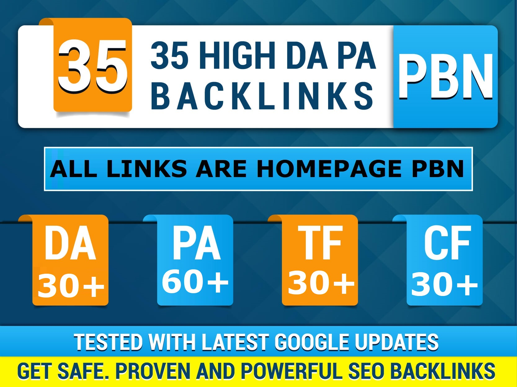 35 High DA30+ PA60+  CF30+ TF30+ PBN Backlinks