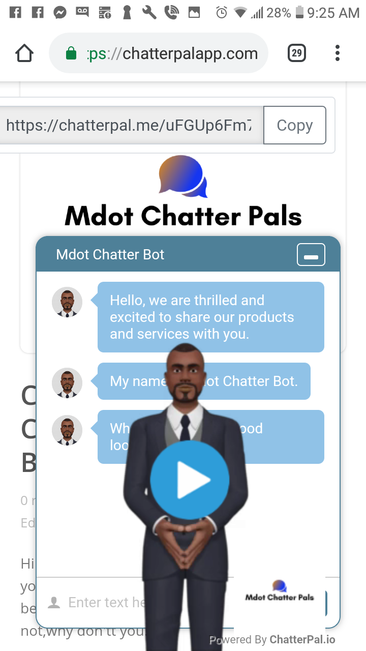 Custom Made Animated Chat Bot For Your Blog/Business WebSite