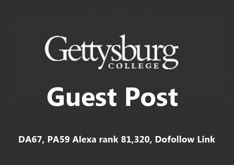 Publish a guest post on Gettysburg College with a Dof...