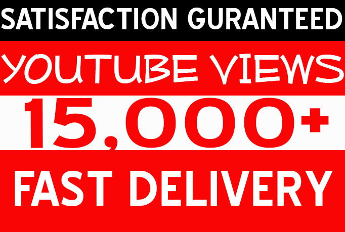 deliver 15,000+ YOUTUBE Views Retention Views Within 72 Hours