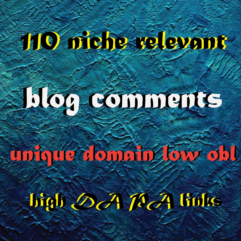 Do 110 niche relevant blog comments