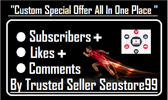 Custom All In One YouTube Booster Service Promotion Within 12----24 Hours