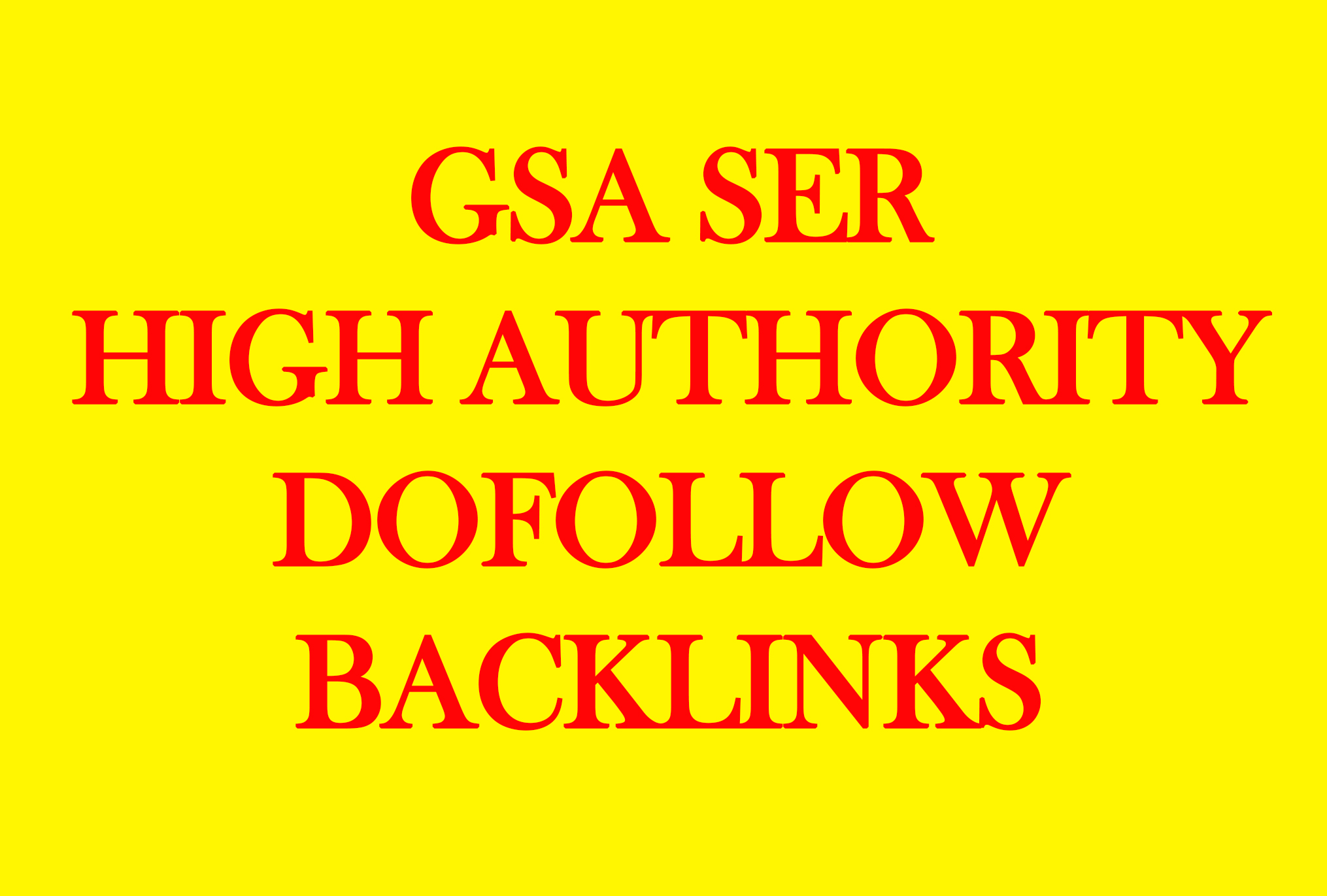 SEO GSA 1.4 Million Dofollow links for Boosting Ranin...