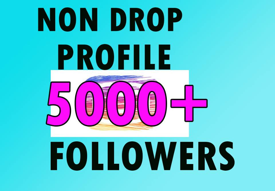 5000+Permanent Followers IN 1-2H