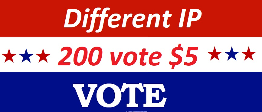 Get offer 200 Different IP votes contest that you are...