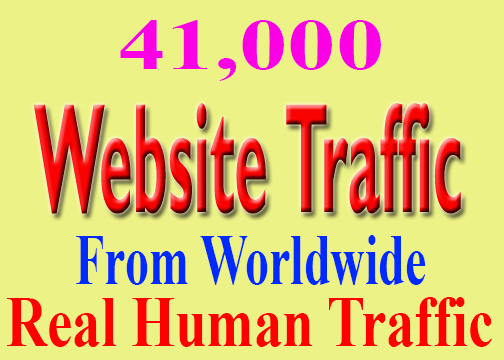 Great 41,000 WorldWide Website Traffic Visitors To Your Non Drop And Very High Quality Site Adsense