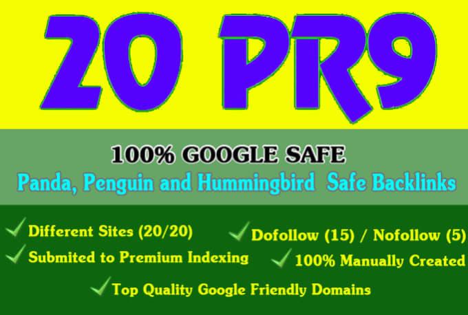 20 PR9 SEO Backlinks 80+ DA Increasing Your Google Ranking