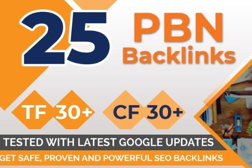 Build 25 Pbn Backlinks, High Metrics Aged & Pbn Post