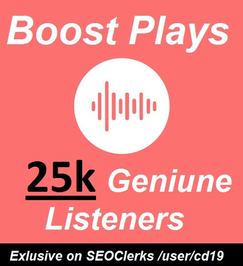 Music promotion 25000 Unique Listeners Hits on track