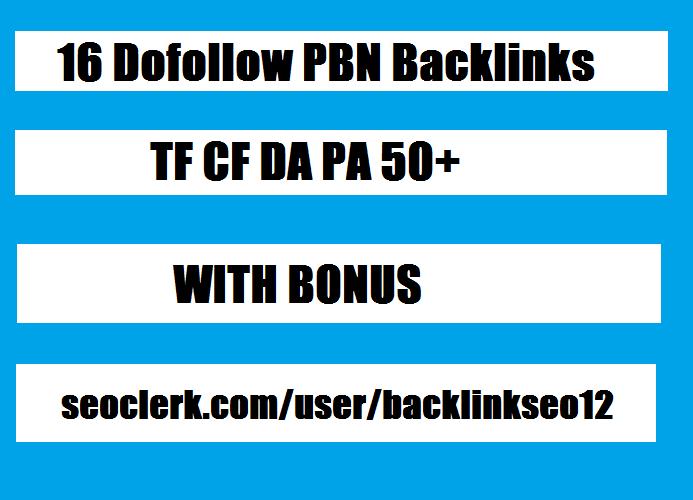 20 Manual HIGH TF CF DA PA 40+ to 20 Dofollow PBN Bac...
