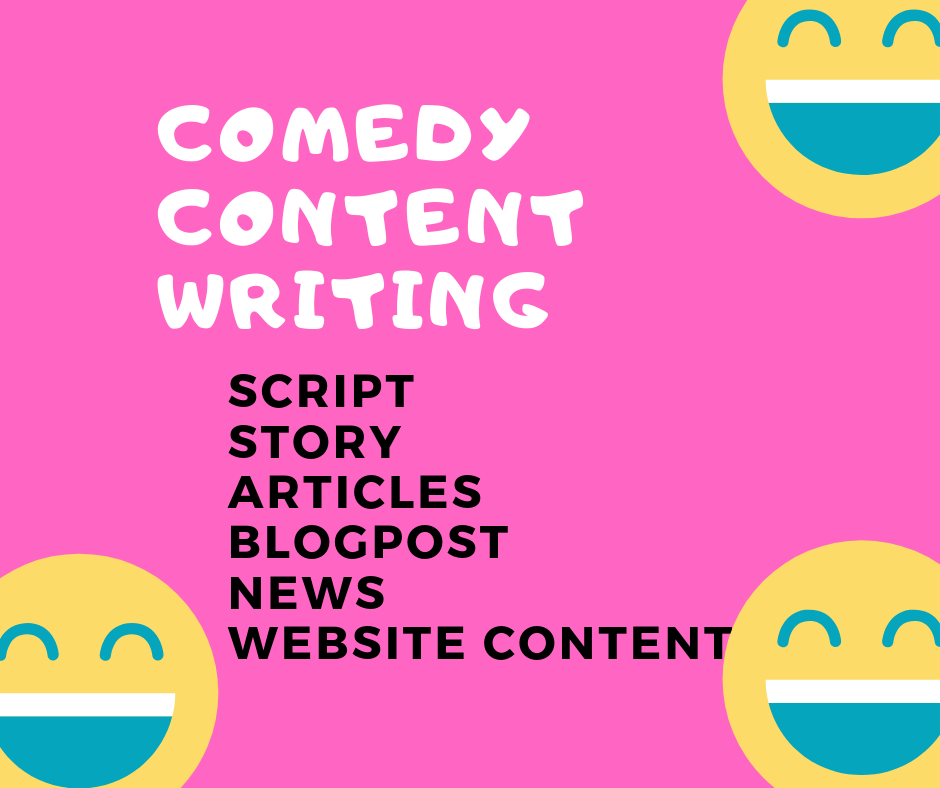 Premium Comedy Story Script Articles blog post Writing Service