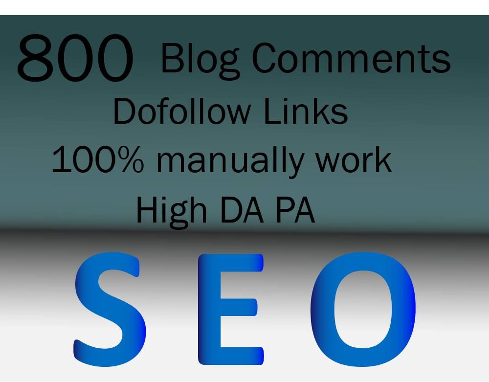 Do 800 Blog Comments On Actual Page Of High Da Pa Links Manually
