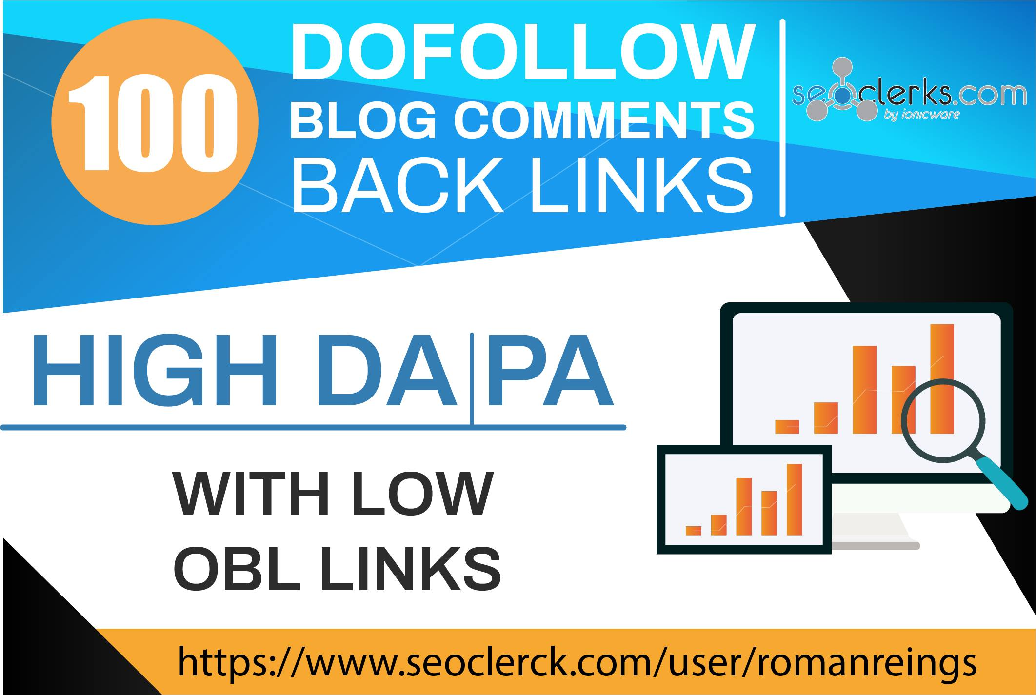 Do 100 blog comments on high dapa tf cf low obl