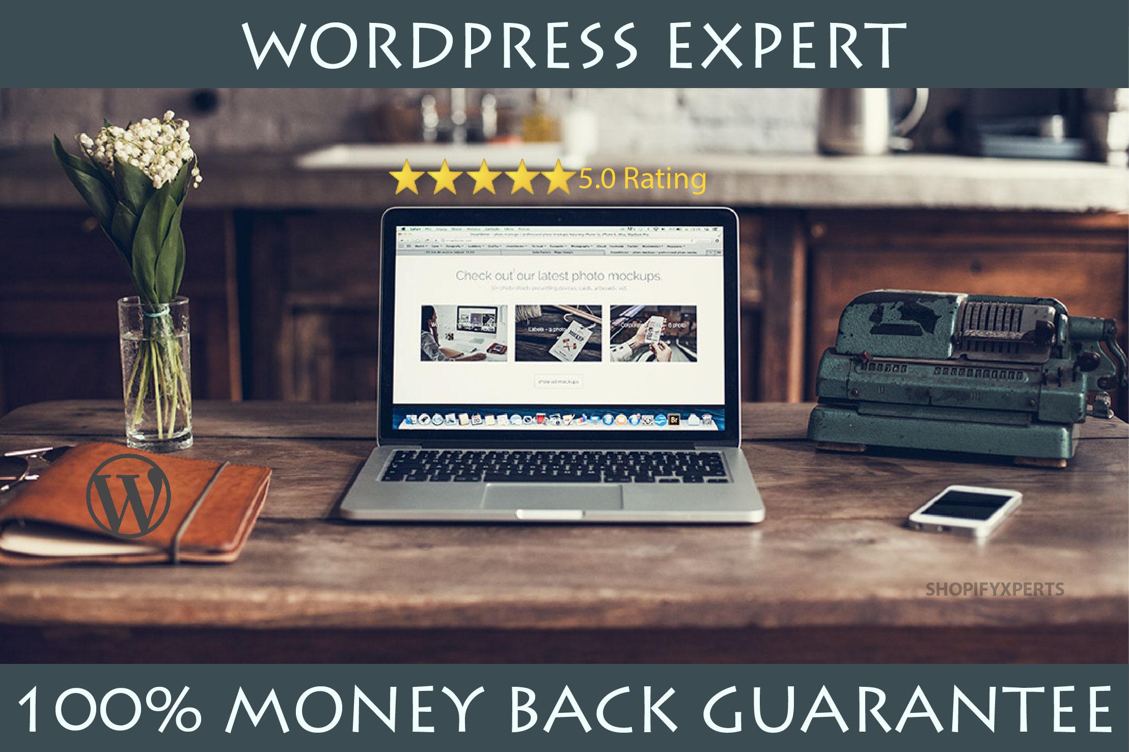 Build Wordpress Website,  Wordpress Design,  Wordpress Customization