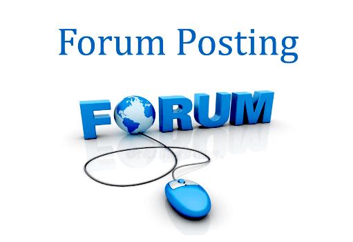 do 50 high quality forum posting