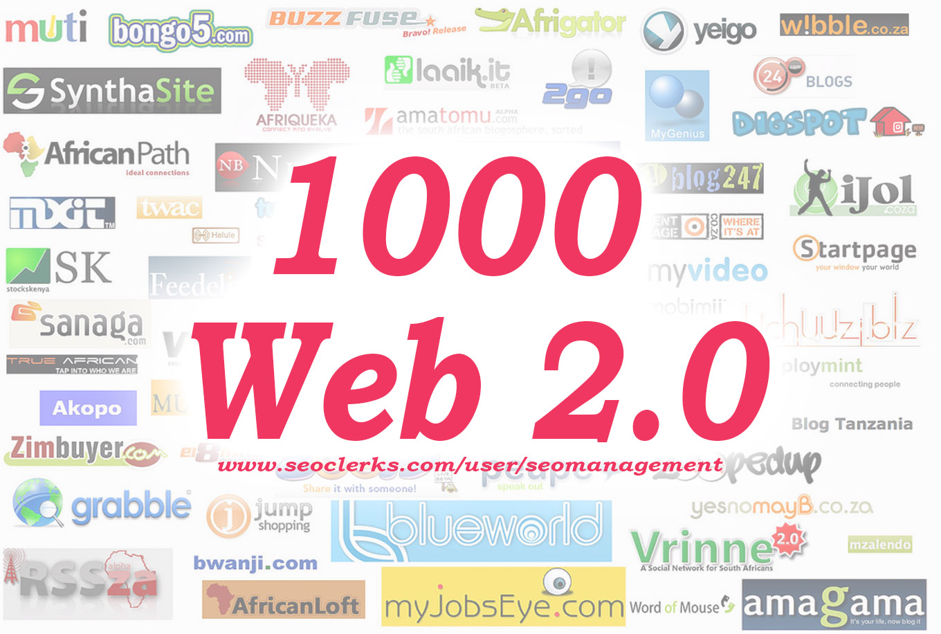 1000+ Web 2.0 Backlink Creations and High Quality Original spun Content for Better SEO Promotions