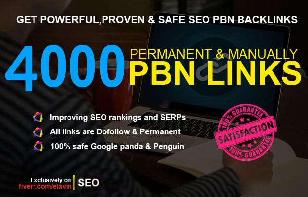 4000 dofollow pbn SEO backlinks for google ranking