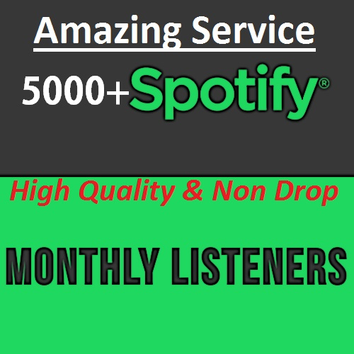 SUPER FAST- 5000+ Spotify Monthly Listeners For Your Artist Profile Promotion