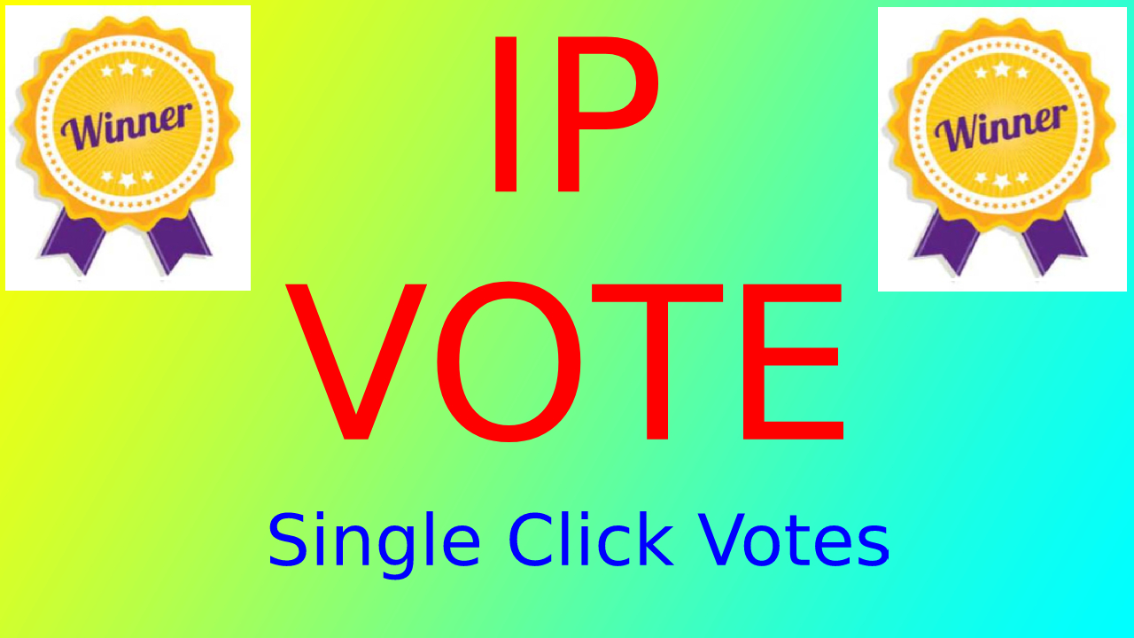 5,00 HQ Different Real IP Votes For Any Online Voting Contest Polls