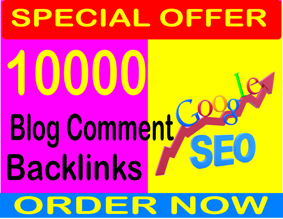10,000 GSA Blog Comments Backlinks for Google SEO