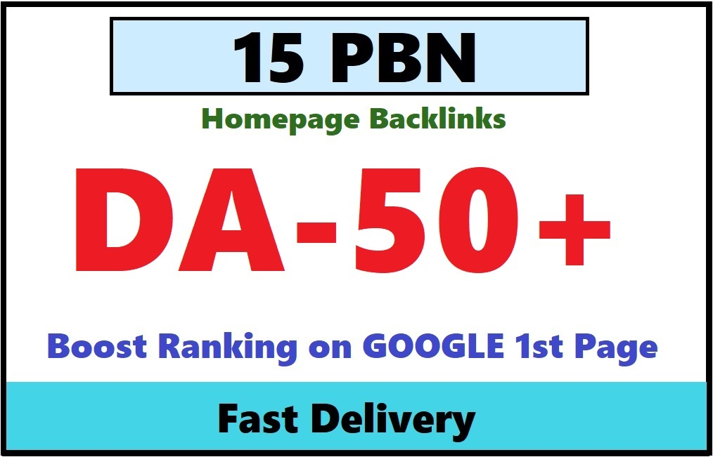 20 High Metrics Manually PBN DA/PA 50+ GOOGLE Fast Ranking