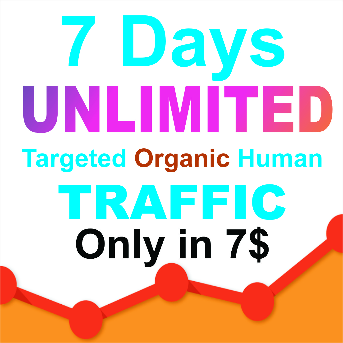 90 days UNLIMITED Keywords Targeted REAL HUMAN TRAFFIC