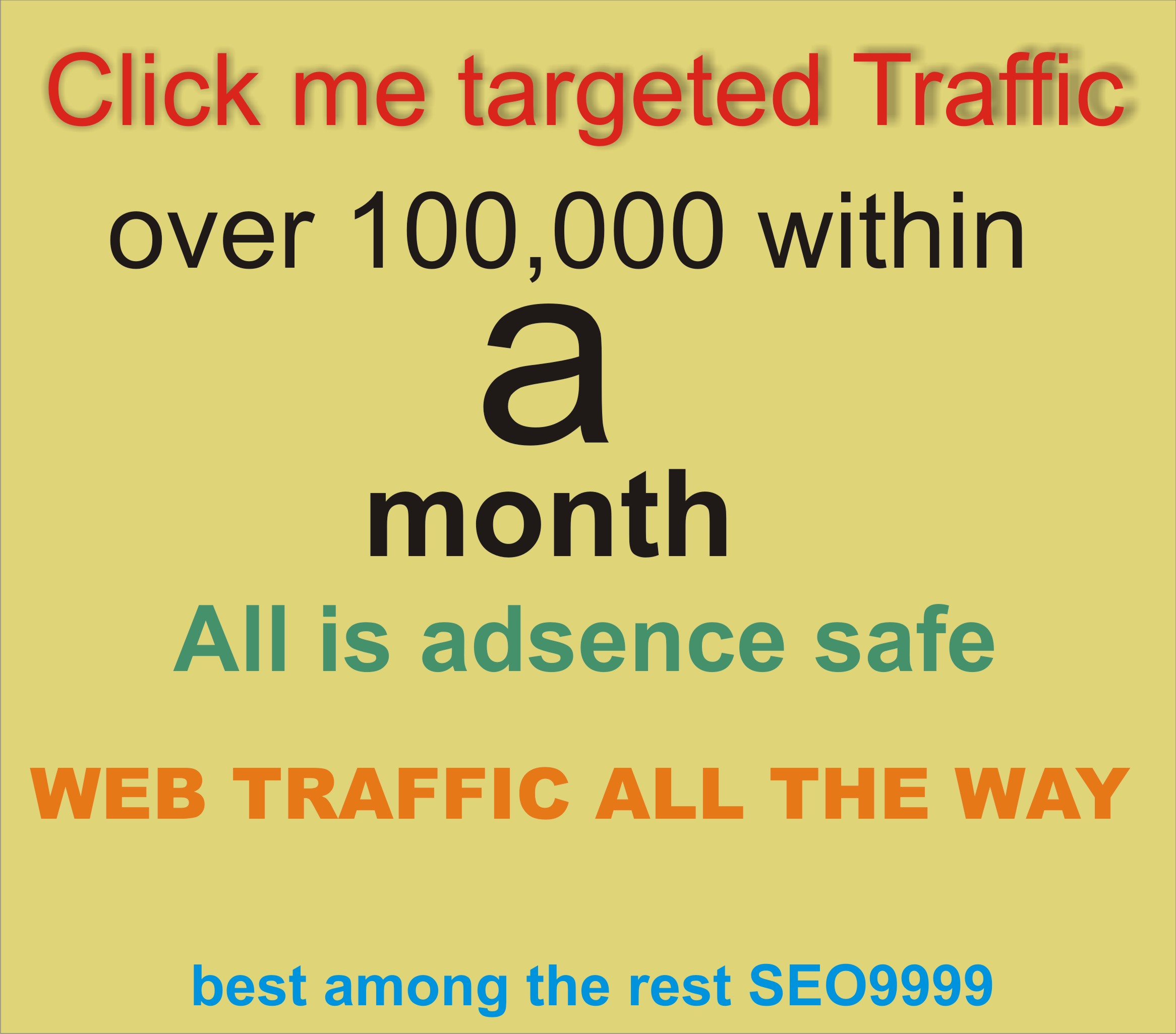 USA Targeted- Drive drive unlimited,  daily traffic,  tergented and Adsense Safe web traffic for a month