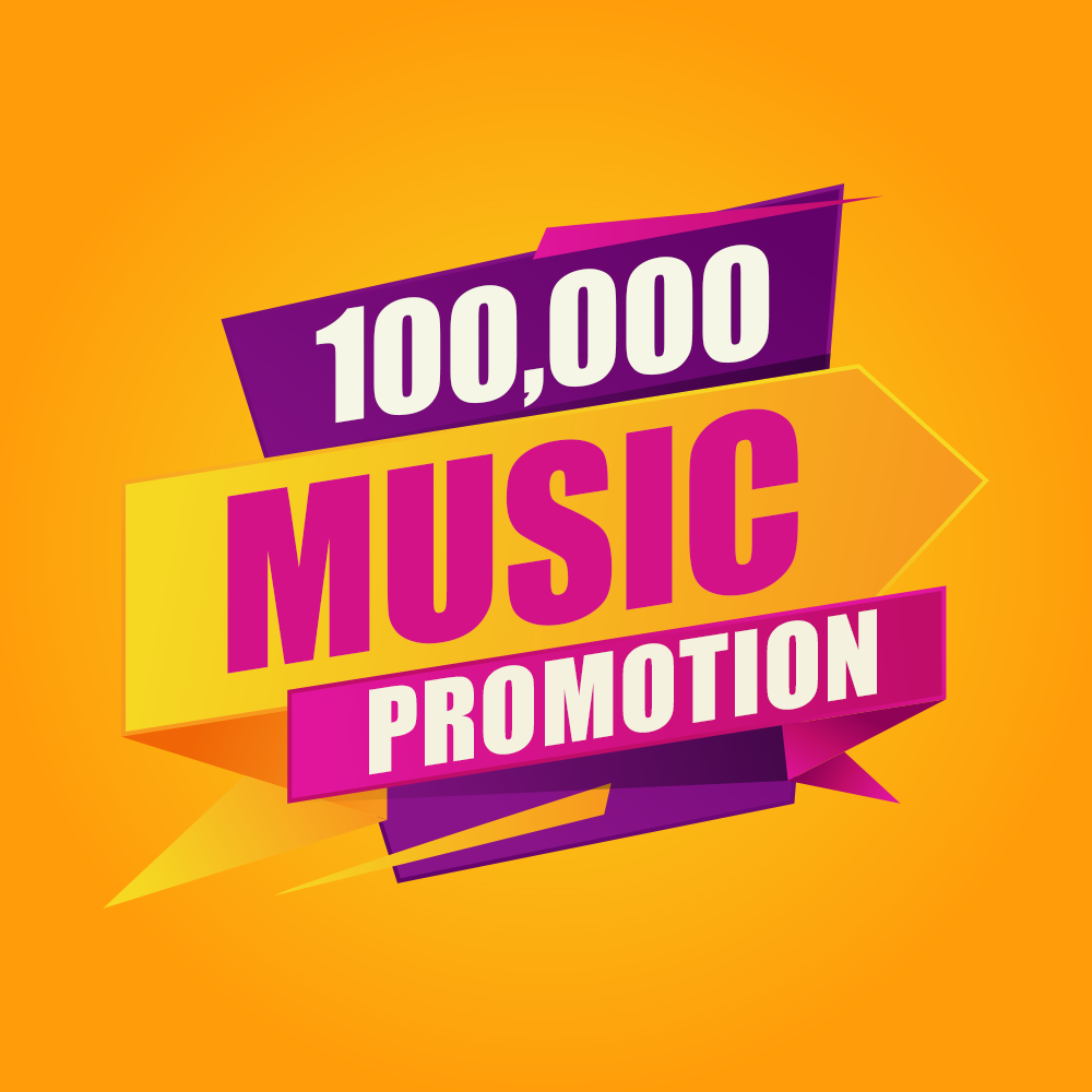 One Hundred Thousand Your Music Promotion With Real Advertisement