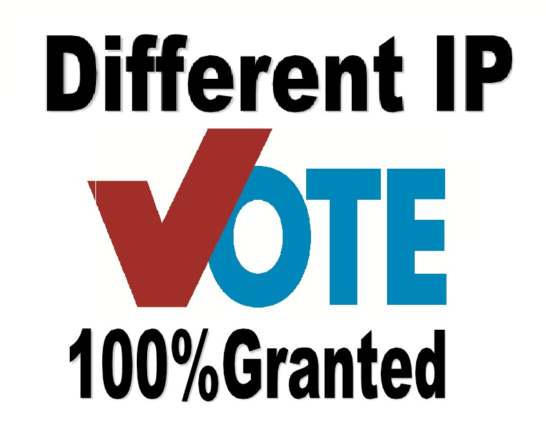 Support 200 votes Different ip votes on your poll contest