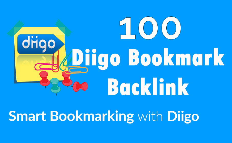 Diigo High Quality 100 Bookmark backlink PR8-9 Google 1