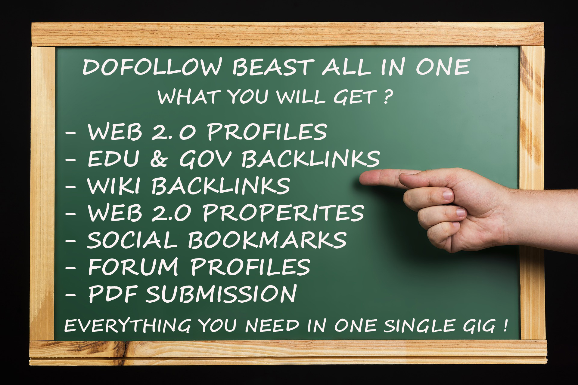 DOFOLLOW BEAST - ALL IN ONE ULTIMATE HIGH QUALITY SEO PACKAGE