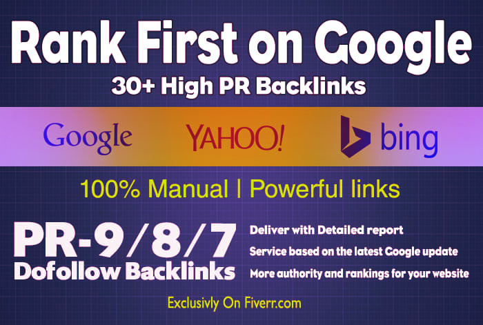 create 30 dofollow valuable SEO backlinks