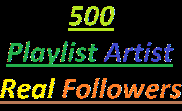 Urgent Delivery 500+ Real Playlist Artist Profile Followers