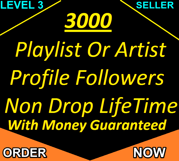 Urgent Delivery 3,000+ Real Playlist Or Artist Profile Followers