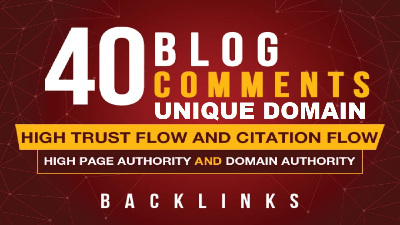 Do 40 Unique domian dofollow backlink with high DA PA TF CF