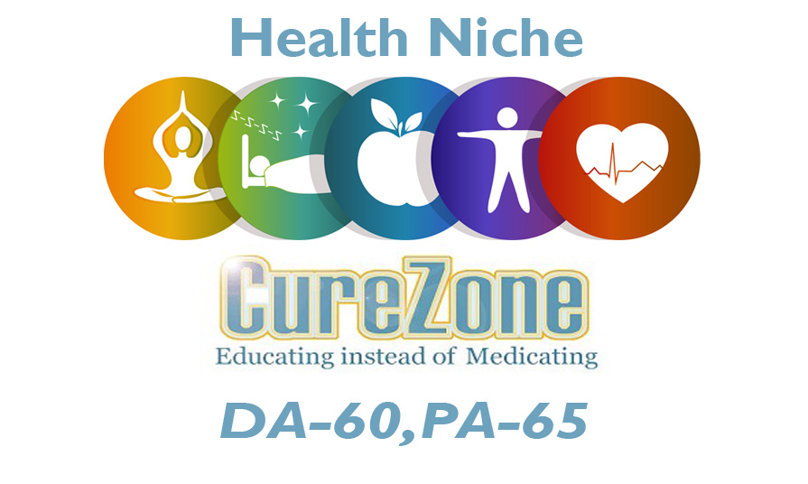 "Publish Health Niche Guest Post on ""Curezone.com (Limited Offer) Only for 5 client"